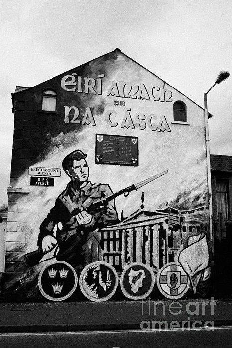 1916 Dublin Easter Rising Commemoration Republican Wall Mural Beechmount Rpg Belfast Print by Joe Fox