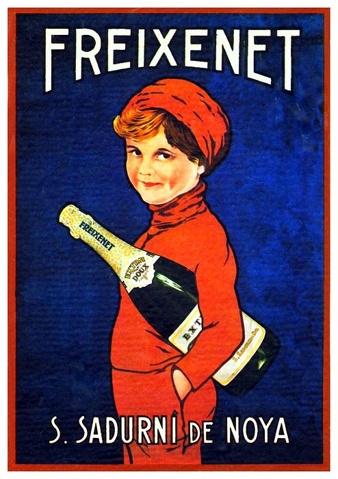1920 - Freixenet Wines - Advertisement Poster - Color Print by John Madison