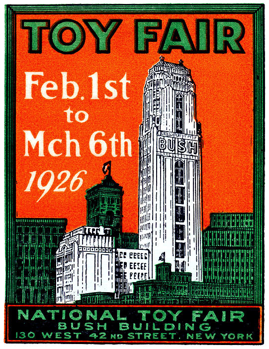 1926 New York City Toy Fair Poster Print by Historic Image