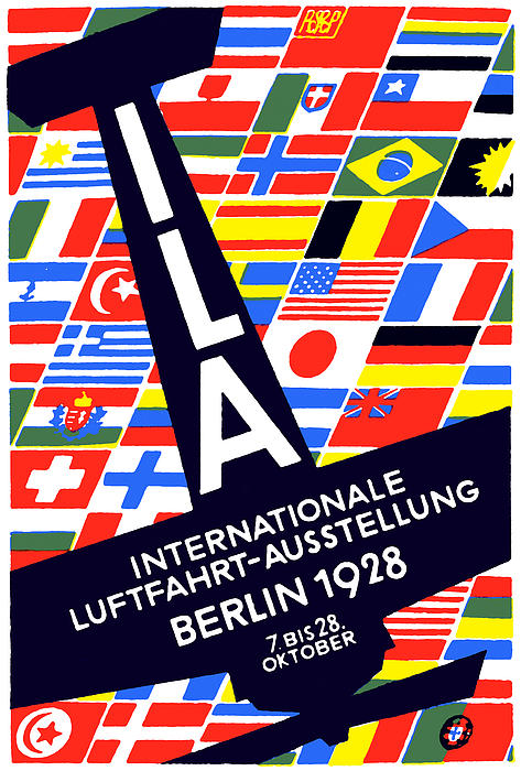 1928 International Air Show Print by Historic Image