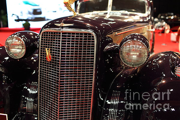 1934 Cadillac V16 Aero Coupe - 5d19876 Print by Wingsdomain Art and Photography