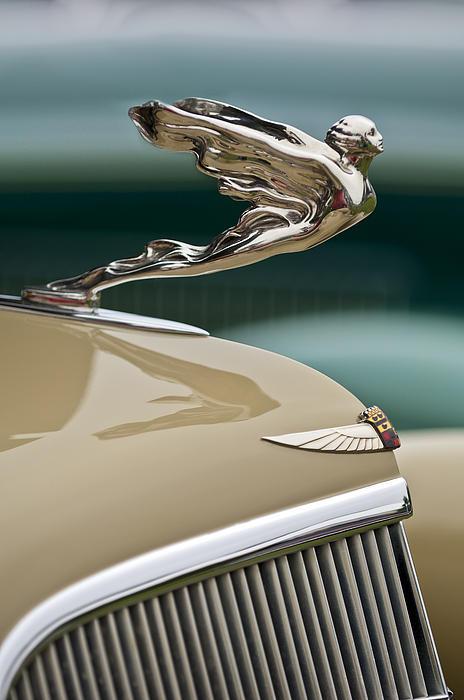 1935 Cadillac Convertible Hood Ornament Print by Jill Reger