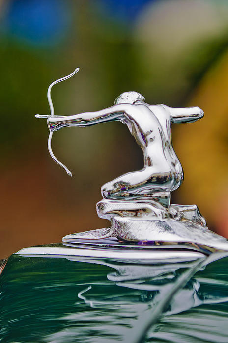 1935 Pierce-arrow 845 Coupe Hood Ornament Print by Jill Reger