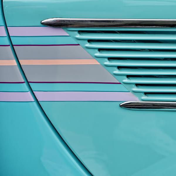 1937 Ford Sedan Slantback Door Detail Print by Carol Leigh