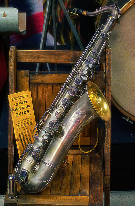 1940ish Saxophone Print by Thomas Woolworth