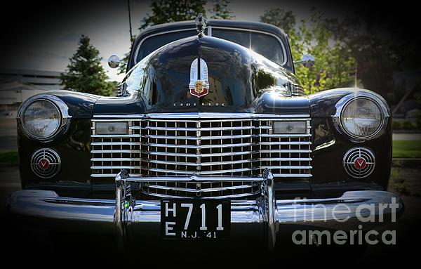 1941 Cadillac Front End Print by Paul Ward