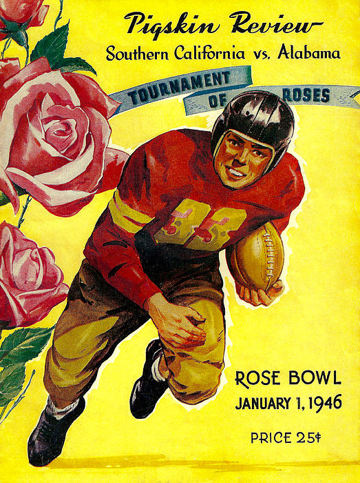 1946 Rose Bowl Program Print by David Patterson