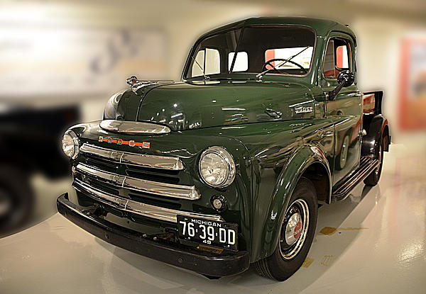1949 Dodge Print by Nancy Wheeler
