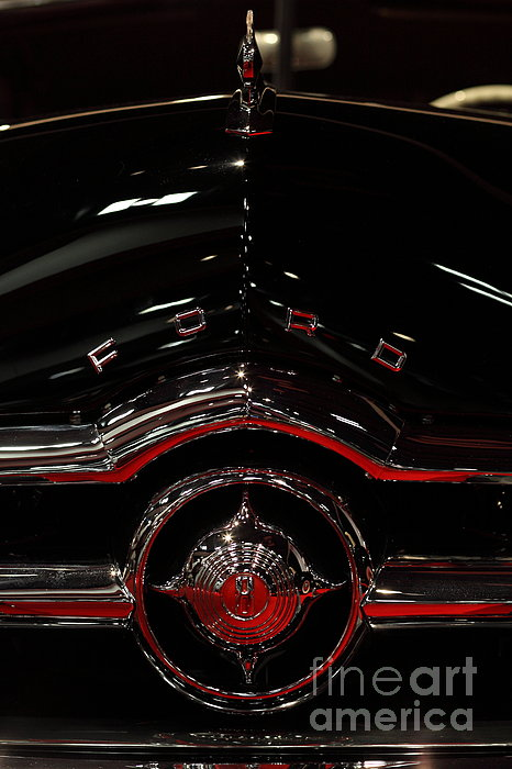 1949 Ford Custom Convertible Coupe - 5d20082 Print by Wingsdomain Art and Photography