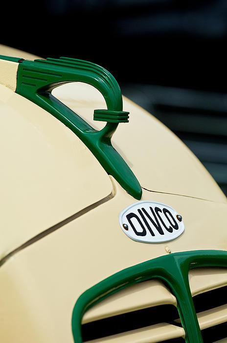 1950 Divco Milk Truck Hood Ornament Print by Jill Reger