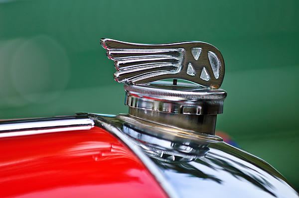 1953 Morgan Plus 4 Le Mans Tt Special Hood Ornament Print by Jill Reger