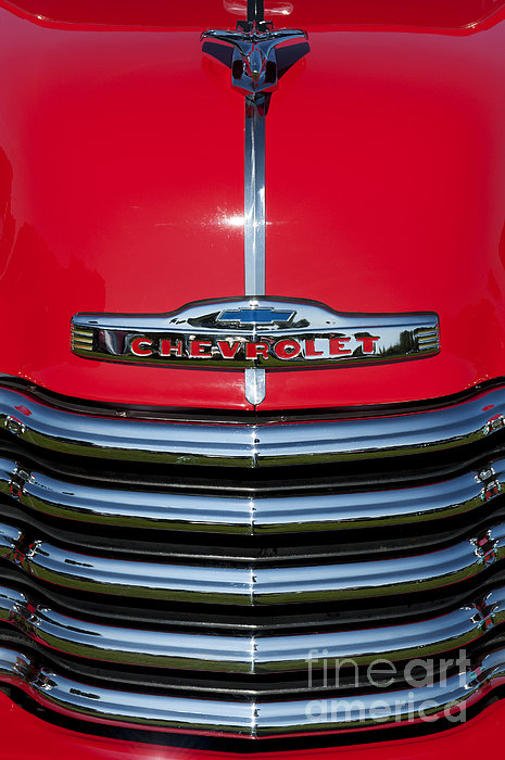 1953 Red Chevrolet 3100 Pickup Print by Tim Gainey