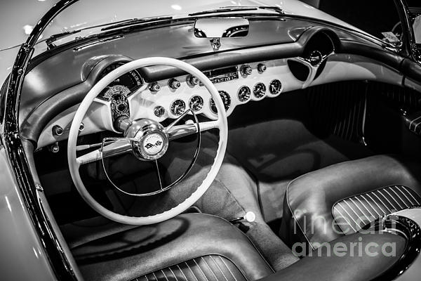1954 Chevrolet Corvette Interior Print by Paul Velgos
