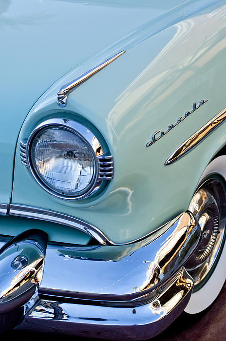 1954 Lincoln Capri Headlight Print by Jill Reger