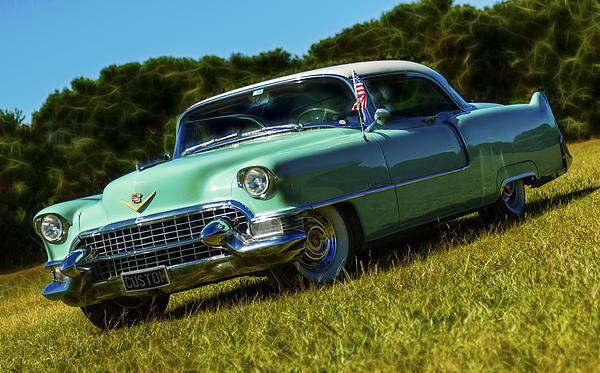 1955 Cadillac Coupe De Ville Print by motography aka Phil Clark