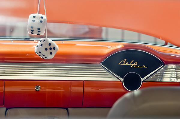 1955 Chevrolet Belair Dashboard Print by Jill Reger