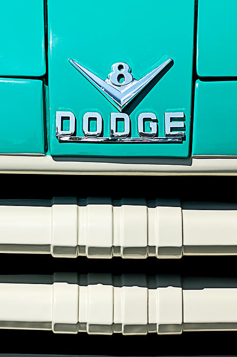1955 Dodge C-3-b8 Pickup Truck Grille Emblem Print by Jill Reger