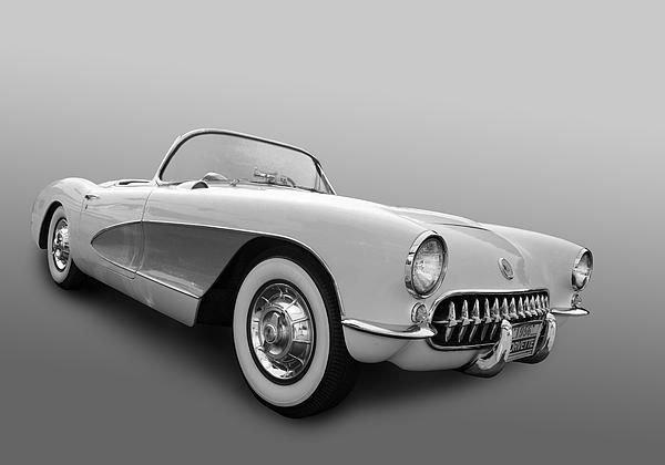 1956 Corvette Print by Bill Dutting