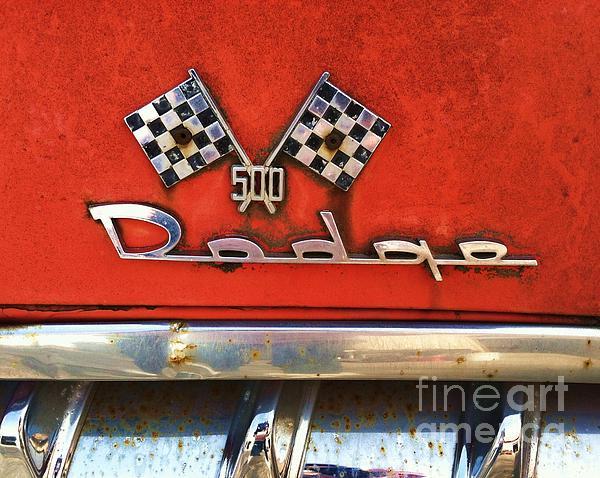 1956 Dodge 500 Series Photo 8b Print by Anna Villarreal Garbis