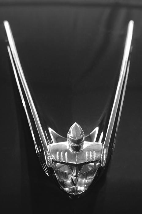 1956 Lincoln Premiere Convertible Hood Ornament 2 Print by Jill Reger