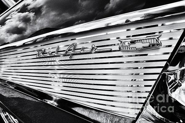 1957 Chevrolet Bel Air Monochrome Print by Tim Gainey