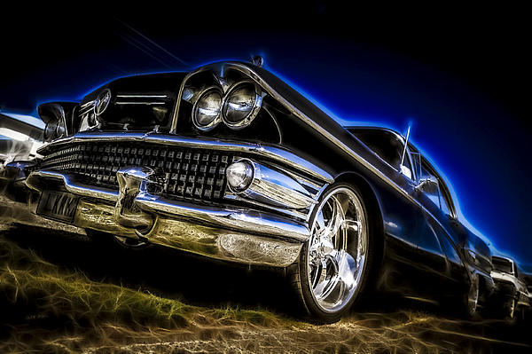 1958 Buick Century Print by motography aka Phil Clark