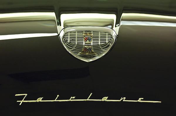 1958 Ford Fairlane 500 Victoria Hood Ornament Print by Jill Reger
