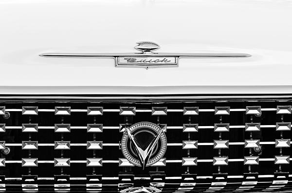 1959 Buick Lesabre Convertible Grille Emblems Print by Jill Reger