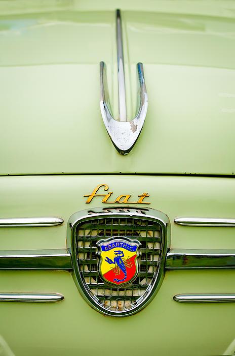 1959 Fiat 600 Derivazione 750 Abarth Hood Ornament Print by Jill Reger