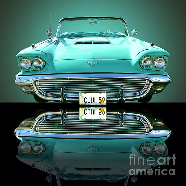 1959 Ford T Bird Print by Jim Carrell
