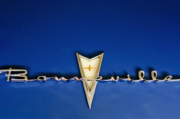 1959 Pontiac Bonneville Emblem Print by Jill Reger