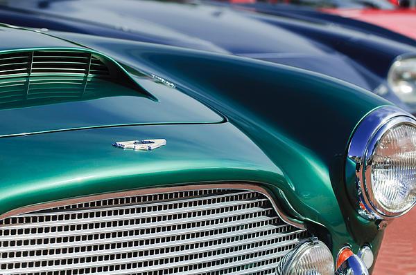 1960 Aston Martin Db4 Series II Grille - Hood Emblem Print by Jill Reger