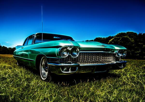 1960 Cadillac Coupe De Ville Print by motography aka Phil Clark