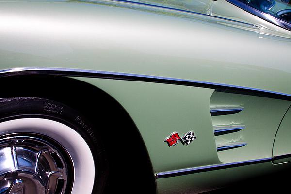 1960 Chevy Corvette Print by David Patterson