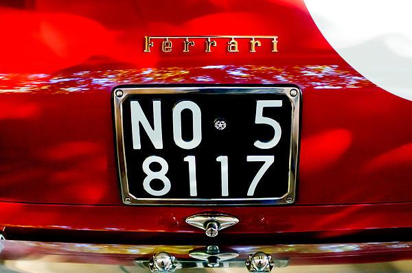 1960 Ferrari 250 Gt Swb Berlinetta Competizione Rear Emblem Print by Jill Reger