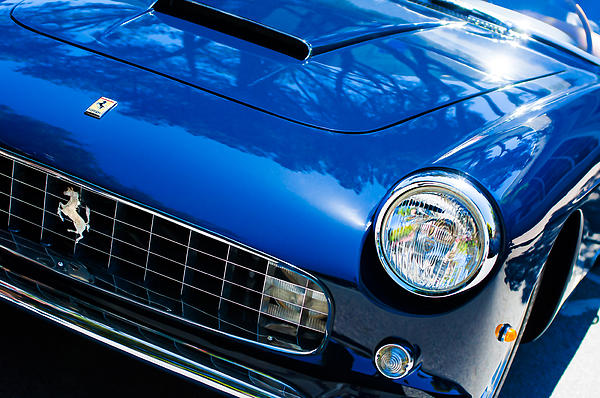 1960 Ferrari 250 Gtf Pinin Farina Cabriolet Series II Grille Emblem Print by Jill Reger