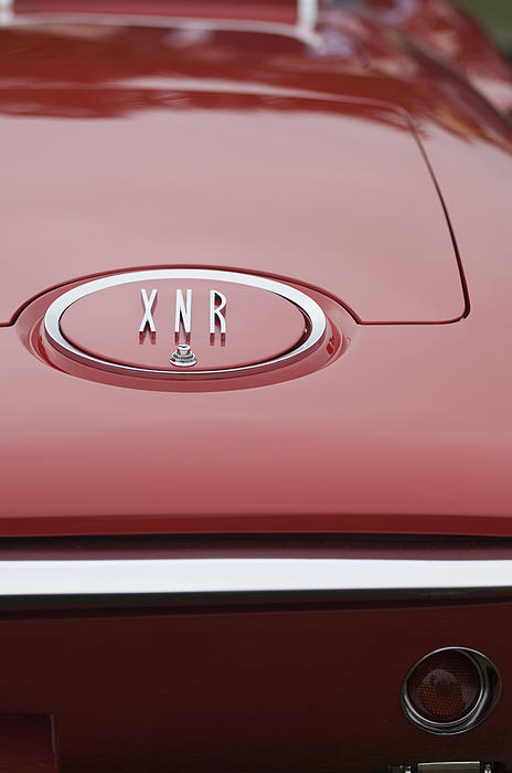 1960 Plymouth Xnr Ghia Roadster  Emblem Print by Jill Reger