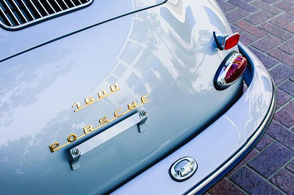 1960 Porsche 356 B 1600 Super Roadster Rear Emblem - Taillight Print by Jill Reger