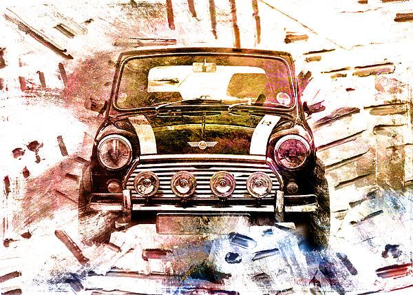 1960s Mini Cooper Print by David Ridley