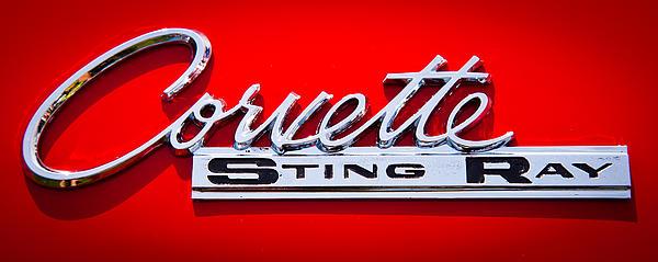 1963 Chevy Corvette Stingray Emblem Print by David Patterson