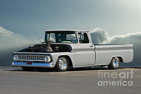 1963 Chevy 'low Rider' Pick-up Truck Print by Dave Koontz