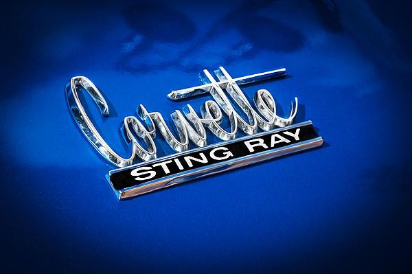 1966 Chevrolet Corvette Coupe Emblem Print by Rich Franco