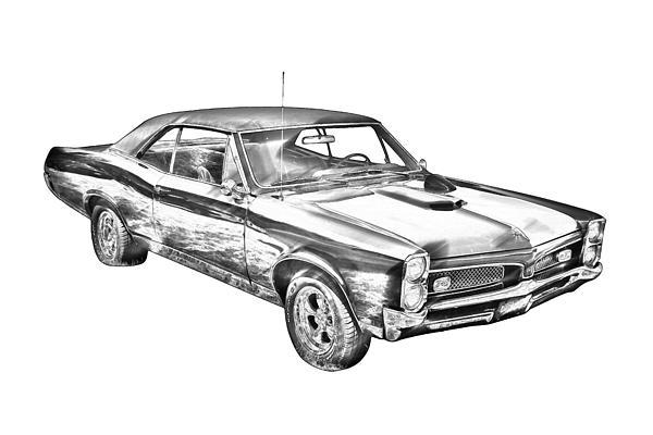 1967 pontiac gto muscle car illustration by keith webber jr