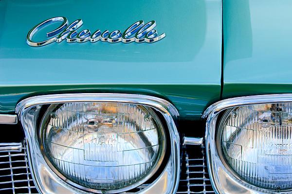 1968 Chevrolet Chevelle Headlight Print by Jill Reger