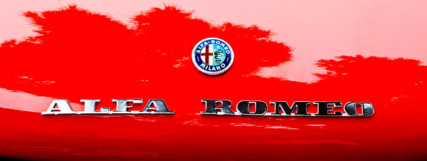 1969 Alfa Romeo Spider Veloce Iniezione Emblem Print by Jill Reger