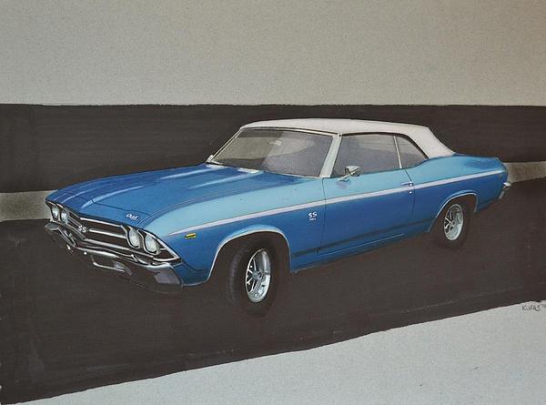 1969 Chevelle Print by Paul Kuras