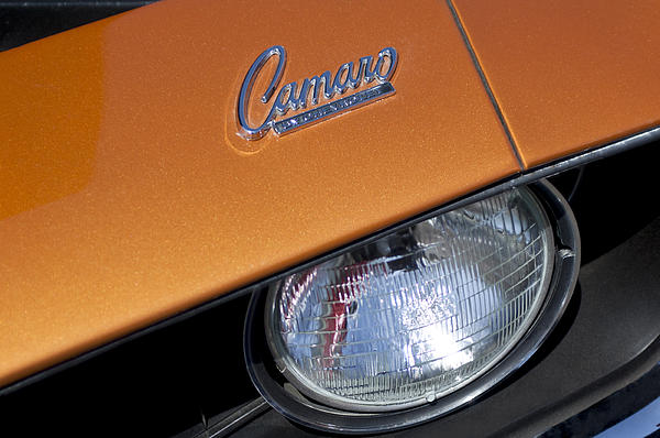 1969 Chevrolet Camaro Headlight Emblem Print by Jill Reger
