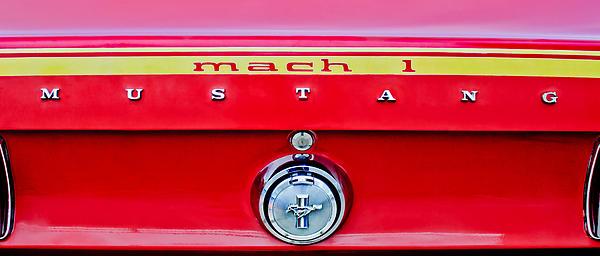 1969 Ford Mustang Mach 1 Rear Emblems Print by Jill Reger