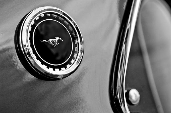 1969 Ford Mustang Mach 1 Side Emblem Print by Jill Reger
