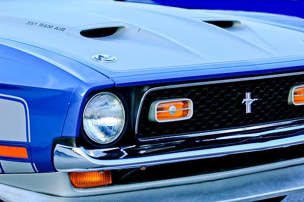 1971 Ford Mustang Boss 351 Cleveland Print by Jill Reger